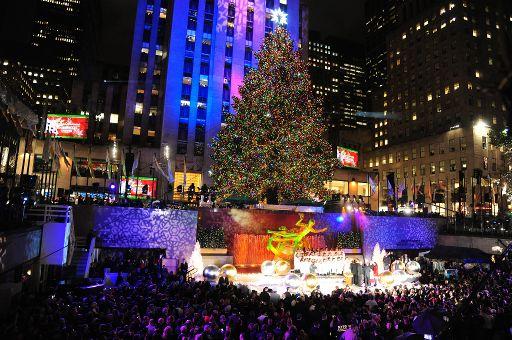 Weihnachtsbaum vorm rockefeller center