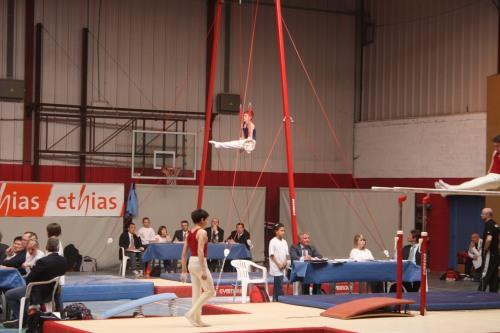 Lukas Fickers wurde bei den Landesmeisterschaften der Geräteturner in Sint Niklaas Vierter