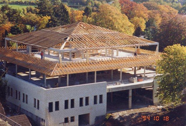 Bau des BRF-Funkhauses am Kehrweg 1994 (Bild: BRF-Archiv)