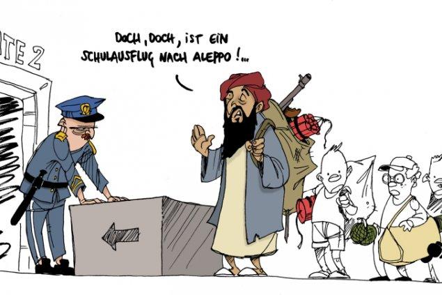 Bildergebnis für muslimische migranten karikaturen