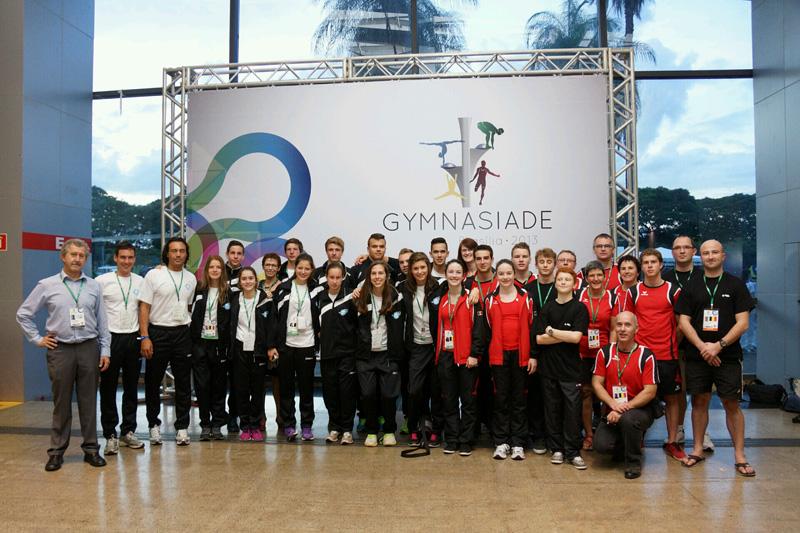 ISF-Gymnasiade in Brasilien: die belgische Delegation