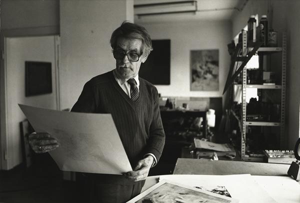 André Blank im Atelier, 1984-1985