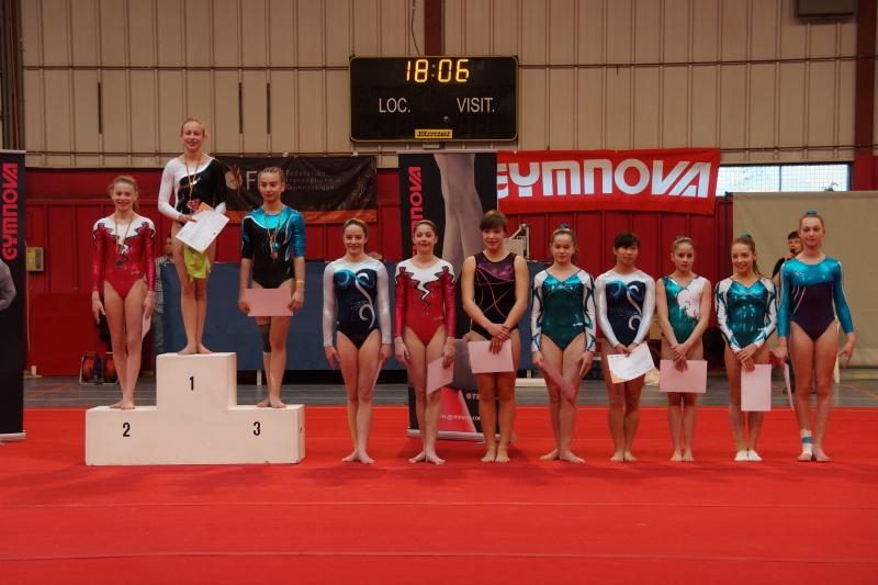Walloniemeisterschaft im Geräteturnen in Jemelle - Div2 Junioren: Lena Theodor (4), Celine Kistemann (8)