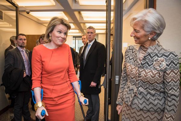 Königin Mathilde macht sich für Weltfrauentag stark