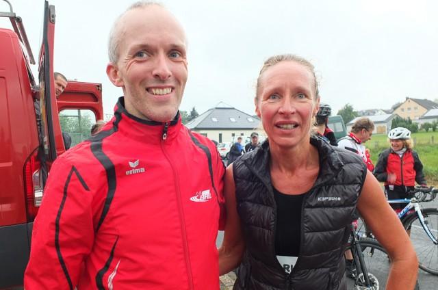 Halbmarathon nach Bleialf: Sieger Jérôme Hilger-Schütz und Gaby Andres