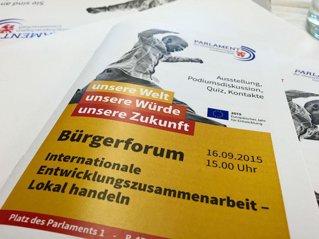 Bürgerforum zur Entwicklungszusammenarbeit im PDG