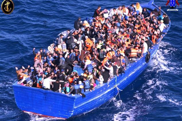 Flüchtlingsboot Mittelmeer