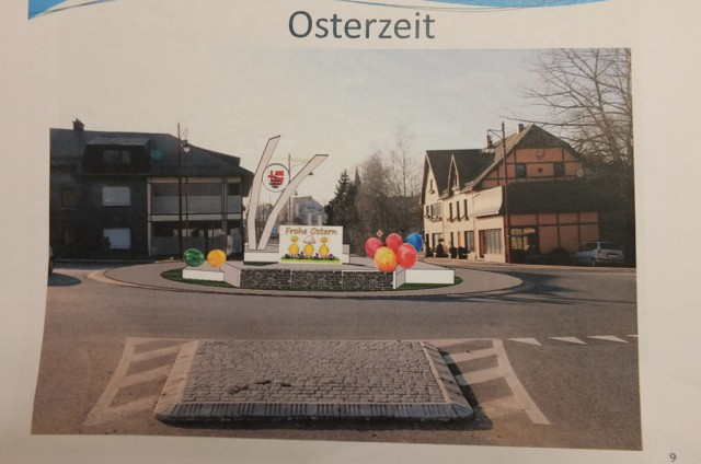 Vorschlag zur Neugestaltung des Büllinger Kreisverkehrs