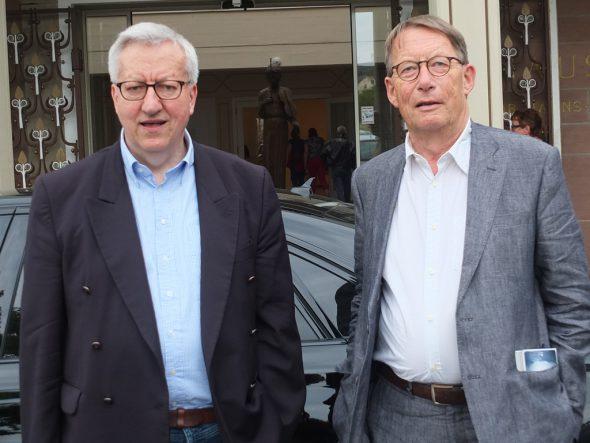 Friedrich Christian Delius (re.) und Josef Zierden, der Organisator des Eifel-Literatur-Festivals