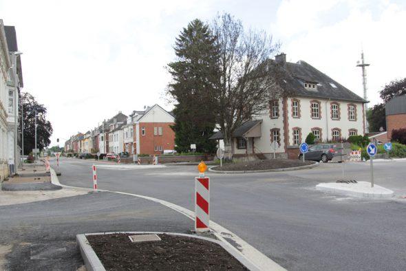 Kreisverkehr Herbesthaler Straße - Vervierser Straße wieder geöffnet