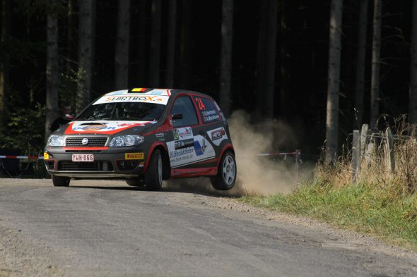 Stephan Hermann/Achim Maraite im Fiat Punto bei der East Belgian Rallye