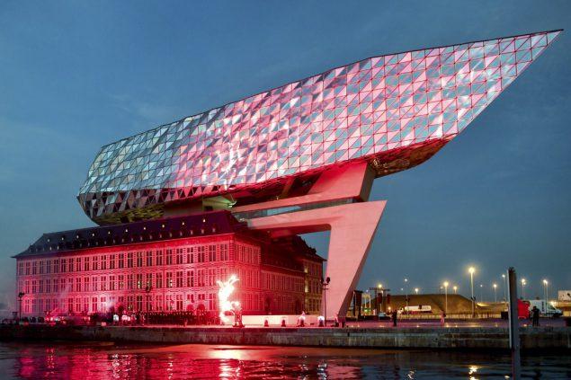Beeindruckendes Bauwerk Neues Hafenhaus Von Antwerpen