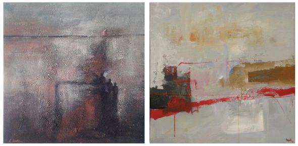 Im November zeigt das Kunstforum Ostbelgien Werke von 16 Künstlern aus dem Süden der DG, unter anderem von Lydia Lentz (l.) und André Paquet