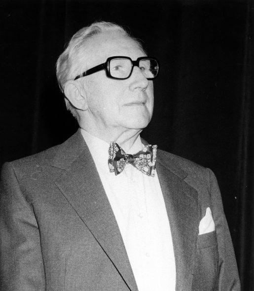 E.P. Jacobs kurz vor seinem im Jahre 1987: Er zählt bis heute neben Hergé, Franquin oder Peyo zu den ganz großen belgischen Comic-Künstlern
