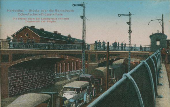 Herbesthal: Brücke über die Bahnstrecke Köln-Aachen-Brüssel-Paris