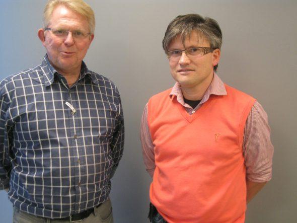 Dr. Erik Janssen und Daniel Schroeder vom neuen medizinischen Zentrum in Kelmis