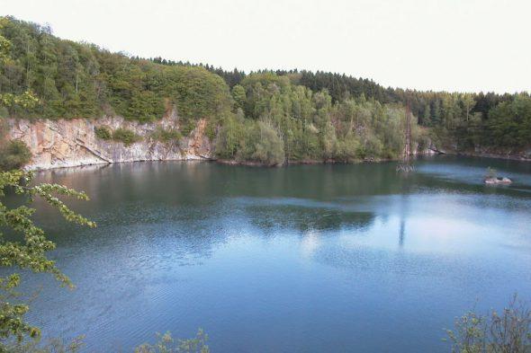 Der ehemalige Steinbruch am Völkersberg in Hergenrath ist jetzt ein See