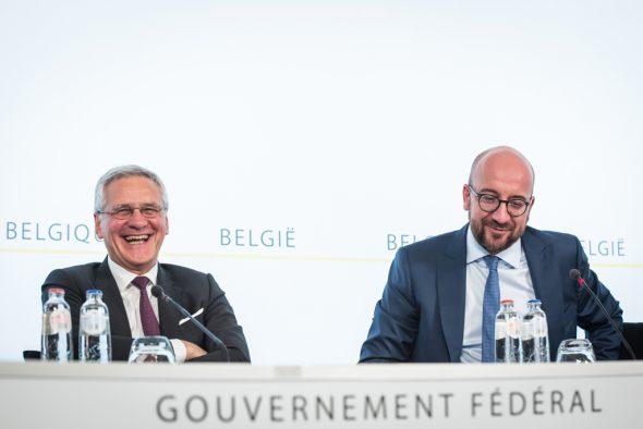 Die Föderalregierung bei der Vorstellung ihrer Reformpläne (26. Juli 2017)