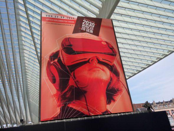 """Pressevorstellung der Ausstellung """"2030 werde ich 20 sein"""" im Lütticher Guillemins-Bahnhof"""