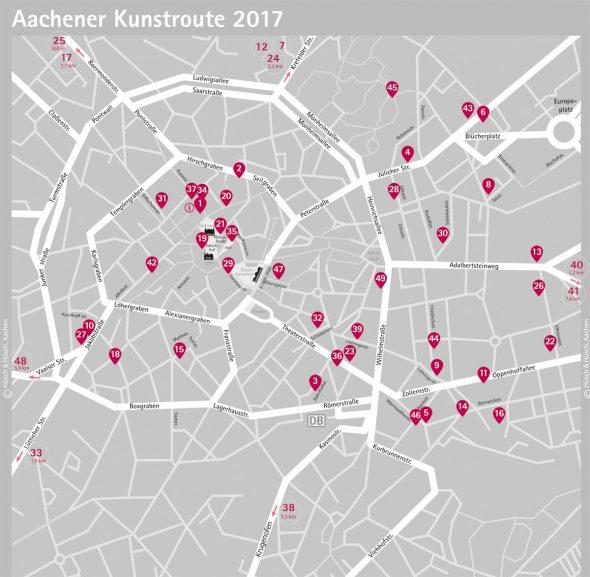 Plan der 20. Aachener Kunstroute