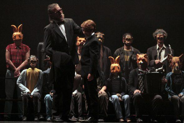 Pinocchio in der Monnaie: Vincent Le Texier (der Vater), Chloé Briot (Pinocchio)