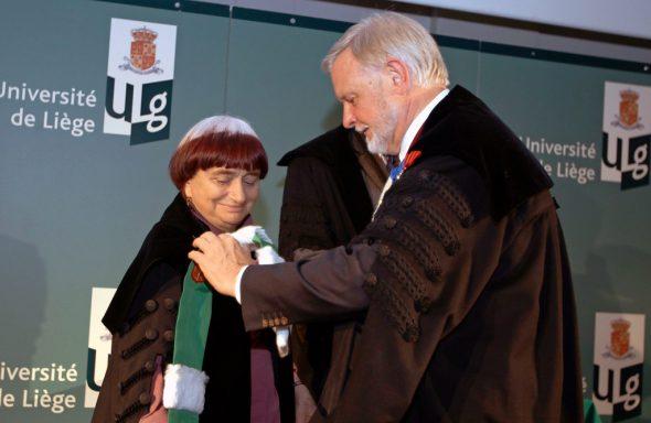 Agnès Varda erhielt 2010 die Ehrendoktorwürde der Uni Lüttich