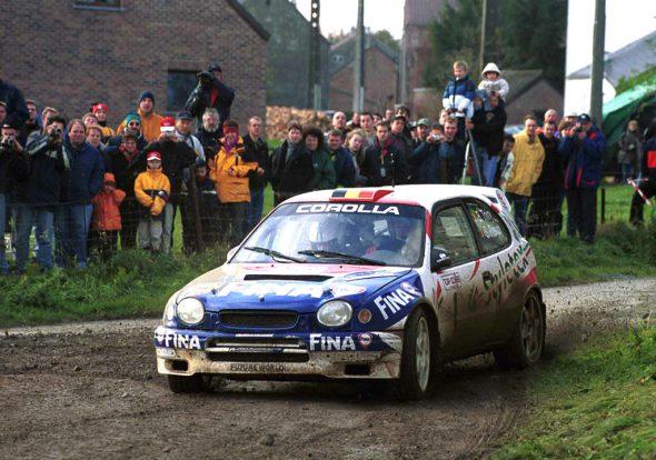 2000 gewannen Bruno Thiry/Stéphane Prévot die Rallye du Condroz im Toyota Corolla WRC (Bild: Willy Weyens/Belga)