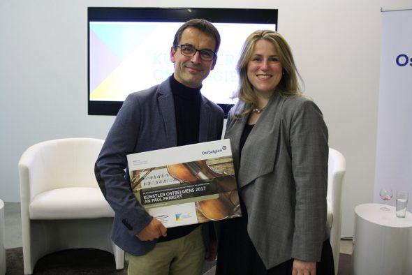 Paul Pankert und Isabelle Weykmans bei der Preisverleihung am Samstag (Bild: Kabinett Weykmans)