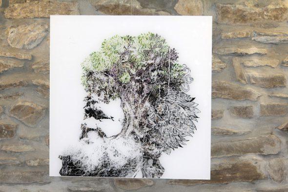 """Ausstellung """"Perceptions"""" im Schloss von Clervaux - Werk von Grafikkünstler Christophe Gazon (Bild: Michaela Brück/BRF)"""