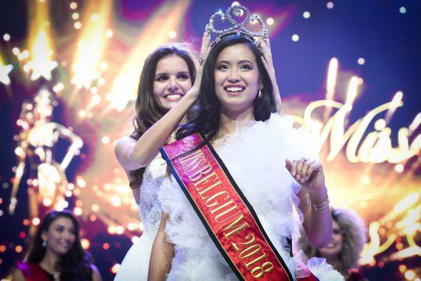 Angeline Flor Pua aus Antwerpen ist Miss Belgien 2018 (Bild: Laurie Dieffembacq/Belga)