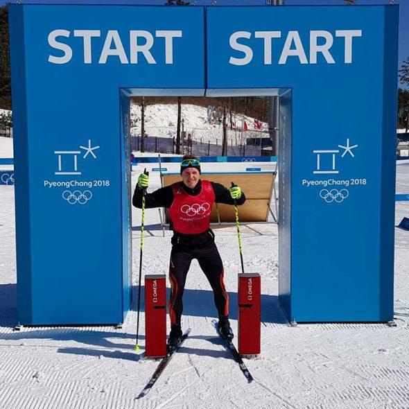 Thierry Langer bei den Olympischen Winterspielen in Pyeonchang (Bild: privat)