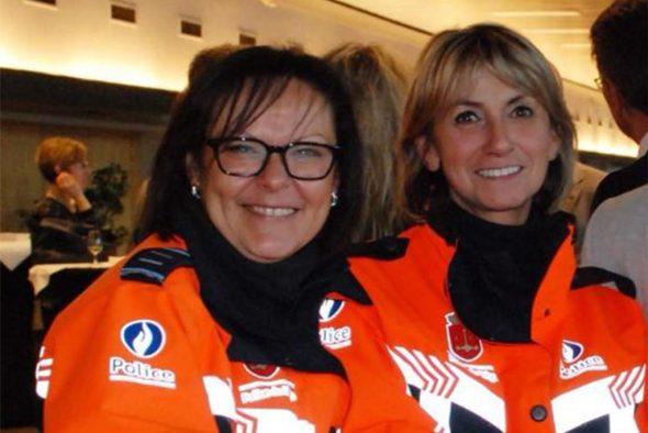 Die beiden ermordeten Polizistinnen Soraya Belkacemi (L) und Lucile Garcia (R) (Bild: Polizei Lüttich/Belga)