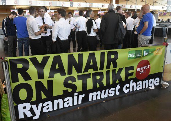 Ryanair-Streik in Belgien (Bild: John Thys/AFP)