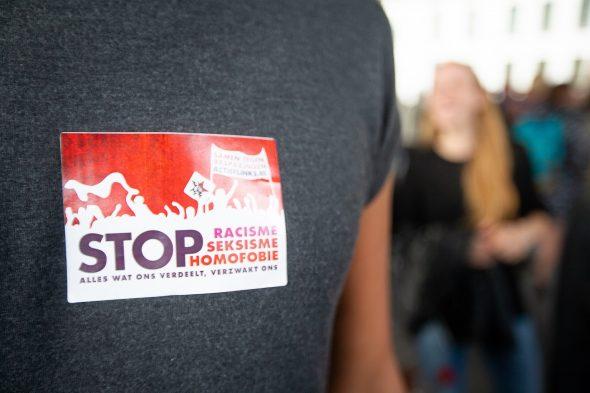 "Demonstration in Gent gegen ""Schild en Vrienden"""