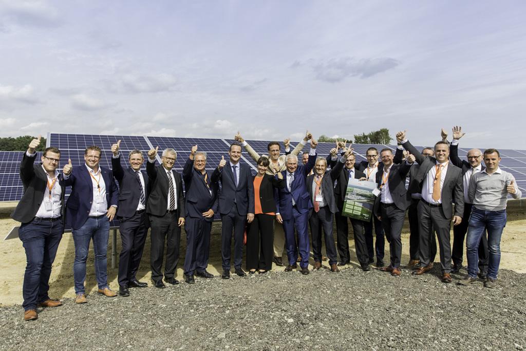 Größte Solaranlage Ostbelgiens in Eynatten eingeweiht (Bild: Evi Ramaekers/EDF Luminus)