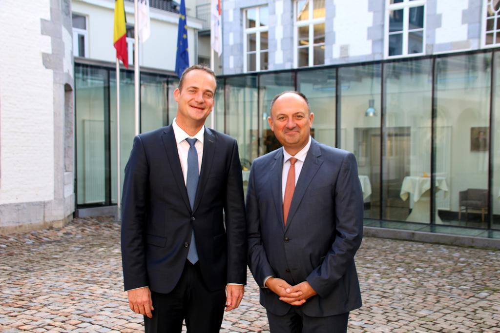 Oliver Paasch und Willy Borsus am 14.9.2018 in Eupen