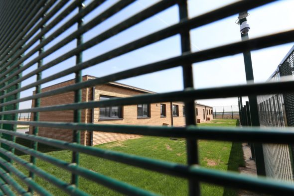 Das geschlossene Auffangzentrum in Steenokkerzeel