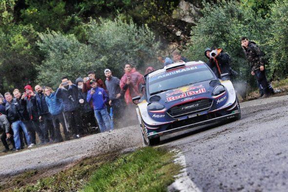 Sébastien Ogier im Ford Fiesta bei der Rallye Spanien