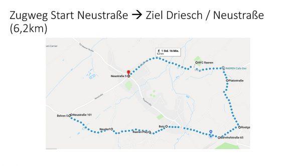 Neuer Weg für den Raerener Karnevalszug (Bild: GoogleMaps/Verkehrsverein Raeren)