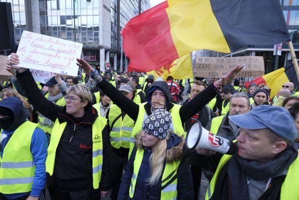 Gilets Jaunes demonstrieren am 30.11.2018 in Brüssel