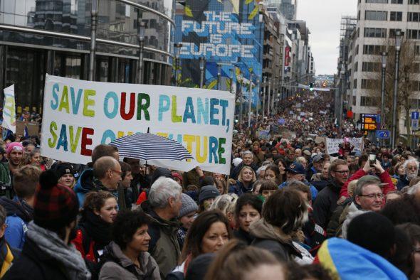 Klima-Marsch in Brüssel (Bild: Nicolas Maeterlinck/Belga)