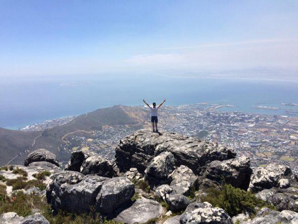 Sven Palm auf dem Tafelberg in Kapstadt (Bild: privat)