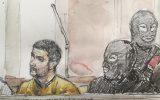 Mehdi Nemmouche vor Gericht in Brüssel (Bild: Benoit Peyrucq/AFP)