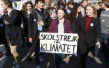 Greta Thunberg und Kyra Gantois (r.) in Brüssel