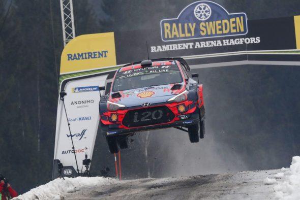 Thierry Neuville/Nicolas Gilsoul im Hyundai i20 bei der Rallye Schweden (Bild: Austral/Hyundai Motorsport)