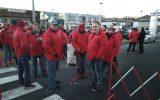 Streik in der Eupener Industriezone (Bild: BRF/ Manuel Zimmermann)