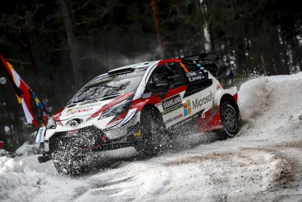 Ott Tänak/Martin Järveoja im Toyota Yaris WRC bei der Rallye Schweden (Bild: Toyota Gazoo Racing)