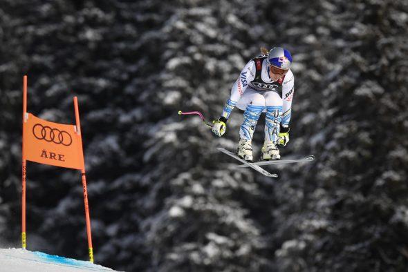 Lindsey Vonn bei der Abfahrt in Are (Bild: François-Xavier Marit/AFP)