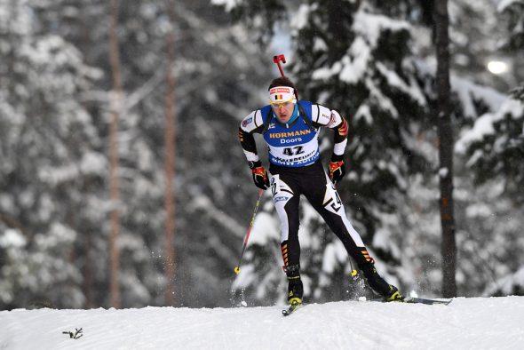 Florent Claude bei der Biathlon-WM in Östersund (Bild: Jonathan Nackstrand/AFP)