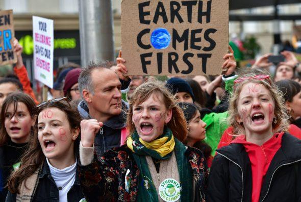 Klima-Demo in Brüssel (Bild: Emmanuel Dunand/AFP)